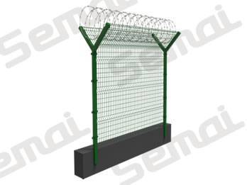 Welded Fence With Raozr Wire Type